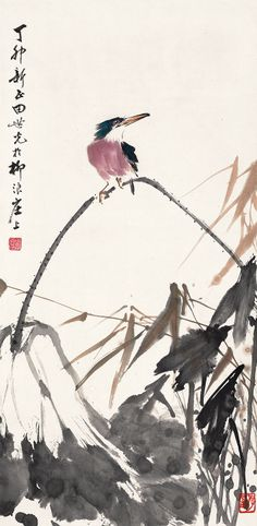 """Flowers and Birds,Eagle,rice paper prints,traditional Chinese painting,customize painting,giclee printsThis is an 39""""x11""""(100cm×27cm) giclee print on fine rice paper, reproduced from an original chinese painting. The inks and paper are archival quality to ensure lasting beauty."""