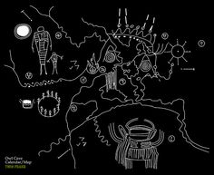 Owl Cave - Map  Calendar to the Black Lodge (Twin Peaks) by Nestor_PS, via Flickr