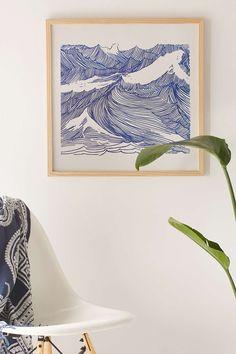 Kym Fulmer Crashing Waves Art Print - Urban Outfitters