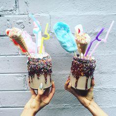 #HowTwoLive Candyshake, basically munching on rainbows