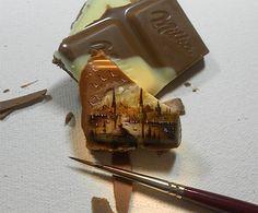 Hasan Kale malt Istanbul auf Essbarem