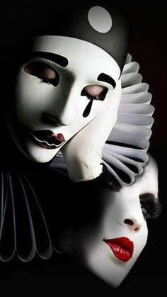Pin by Eileen Kay on Night Circus in 2020 (With images) Joker Clown, Clown Mask, Moulin Rouge Dancers, Clown Images, Venice Mask, Night Circus, Art Costume, Beautiful Fantasy Art, Chicano Art