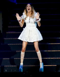 Martina Stoessel News Violetta Outfits, Violetta Disney, Violetta And Leon, Violetta Live, Becky G, Thats Not My, White Dress, Celebrities, Lovers