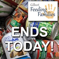 Gilbert Town Hall's Feeding Families drive ENDS TODAY!! Help your neighbors and donate nonperishable food items. Find drop off locations throughout Gilbert here! http://www.gilbertaz.gov/feedingfamilies/ #FoodDriveFriday #Gilbert #Chandler #Tempe #AZ #Phoenix #Mesa #Scottsdale