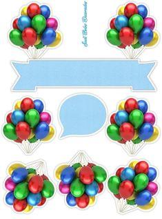Happt Birthday, 2nd Birthday Party For Boys, Birthday Party Themes, Happy Birthday Template, Happy Birthday Cake Topper, Balloon Cake, Christmas Crafts For Kids, Art For Kids, Balloons