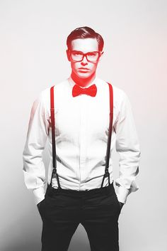 If y'all haven't noticed, I like men who wear bowties and suspenders...a lot ;)
