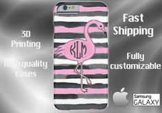 Flamingo Cell Phone Case, Beach Cell Phone Case, Phone 6 case, iPhone 6 plus cell case, iPhone 6 plus case, Samsung S6, S7 Edge case by DesignsbyLiv15 on Etsy