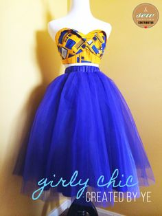 May Sew-along with Ye (Pattern Tutorial Added!) - Sewing and DIY - Pretty Girls Sew - Learn. African Fashion Ankara, Latest African Fashion Dresses, African Print Fashion, African Wedding Attire, African Attire, African Wear, African Dresses For Kids, African Print Dresses, Diy Tulle Skirt