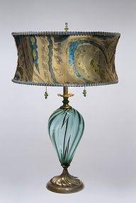 """Lucia""  blue glass table lamp"