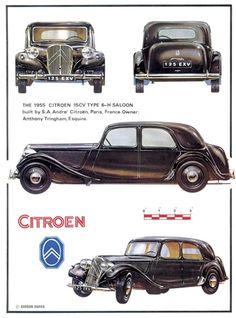 Citroen Traction Avant 15CV Type 6-H Saloon, 1955 - Illustration: Gordon Davies