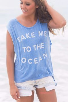 Take us to the ocean :) #fashionblogger Click to learn more about this top ->