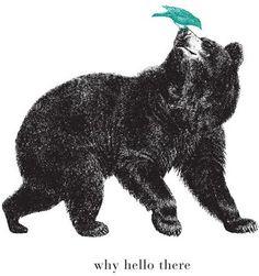 Bear and bird print.