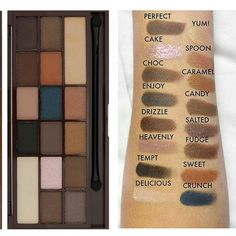 Here's swatches of the new @makeuprevolution I Heart Chocolate Palette in Salted Caramel (TF Semi ...
