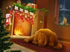 merry christmas new year wallpaper Christmas Night, Noel Christmas, Christmas Pictures, Christmas And New Year, Christmas Stockings, Christmas Ornaments, Xmas, Christmas Fireplace, Christmas Scenes