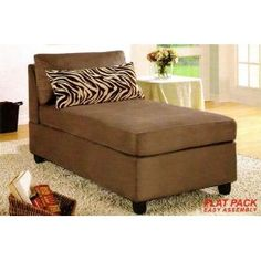 Gentil Microfiber Armless Chaise Lounge Pillow Clearance: Up To Off