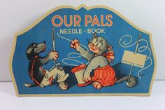 Vintage Foreign OUR PALS West Germany Sewing Needle Book- Rare Collectible