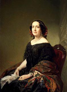 Federico de Madrazo y Kuntz (12 February 1815, Rome – 10 June 1894, Madrid) Gertrudis Goméz de Avellaneda, 1857.