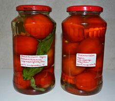 Paradicsom egészben, olajjal tartósítva Canning Pickles, Pickling Cucumbers, Just Eat It, Gourmet Gifts, Hungarian Recipes, No Bake Cake, Preserves, Healthy Living, Spices