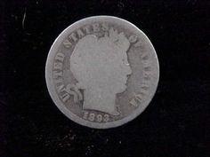 1893 O Silver Barber Dime Good Condition Scarce Date Collectors   eBay
