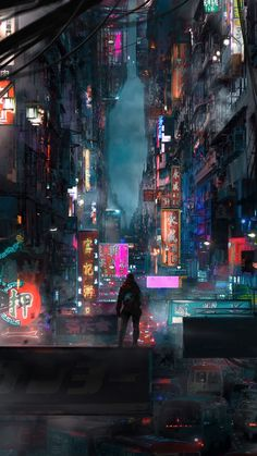 Welcome to Cyberpunk Cities, The place where we showcase all types of Cyberpunk inspired art and photography! Arte Cyberpunk, Cyberpunk Aesthetic, Cyberpunk City, City Aesthetic, Futuristic City, Cyberpunk 2077, Wallpaper Animes, City Wallpaper, Mobile Wallpaper