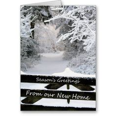 seasons greetings from our new home fence holiday card