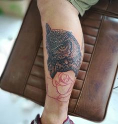 Photo by (realistic.ink) on Instagram | #owl #owltattoo #tattoo #mentattoo #tattooformen #blackandgreytattoos #blackandgrey #tattoos #boys #boytattoo Mens Tattoos, Boy Tattoos, Tattoos For Guys, Black And Grey Tattoos, Owl, Instagram, Male Tattoo, Tattoos For Men, Owls
