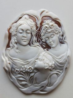 SHELL CAMEO CARVED VERY FINE FABULOUS CAMEO