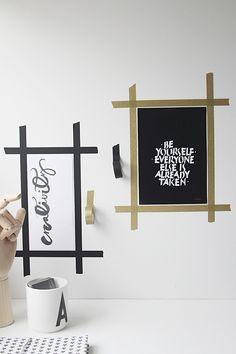 Washi Tape Frames around prints