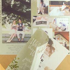 ラスティックな渋めgreenの水彩カラー❤︎ 会場装飾の資料をお送りいただいてイメージを膨らませました #プロフィールブック #weddingbook #muguetwedding #profilebook
