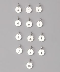 Look at this #zulilyfind! Sterling Silver Initial Round Charm - A to M by Five Little Birds #zulilyfinds