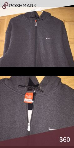 💥 Men's Gray Nike Hoodie 💥 Great, great, great condition!! Photo Cred: google Nike Jackets & Coats Performance Jackets