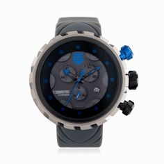 Technosport TS-1100-8 Men's Gray Swiss Chronograph Watch 50mm Stainless Steel Case