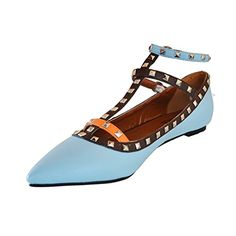 Shoesofdream Women's Endosome Leisure Coppy Leather Rivets Studded Ankle Strap Pointed Toe Party Dress Flat Shoes 6 M US Shoesofdream http://www.amazon.com/dp/B00OK5YXHC/ref=cm_sw_r_pi_dp_qh0Yvb0MF5TBC