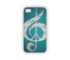 Aqua Blue iPhone Case Music & Peace Music Notes by Inspireuart, #iPhonecase #music #peace #notes #aqua #blue #turquoise #cellphones #accessories #peacesign #musicians
