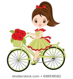 Illustration of Vector cute little African American girl riding bicycle. Vector bicycle with basket of poppies. Vector little African American girl with poppies. Little girl with bicycle vector illustration vector art, clipart and stock vectors. Kids Bicycle, Bicycle Girl, Strawberry Shortcake Coloring Pages, Bicycle Painting, African American Girl, Quilt Labels, Sun Art, Cute Little Girls, Disney Wallpaper