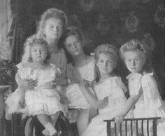 Olga, Tatiana, Maria, Anastasia and Alexei (children of Alix)