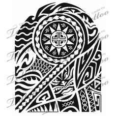Samoan Half Sleeve Tattoos Drawings | Sleeve Tribal Tattoo on Polynesian Half Sleeve Poly Half Sleeve 7663 ...