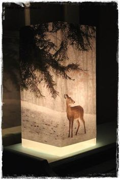 DIY, mod podge, printed paper and a old Ikea lamp...