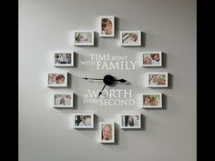 How to Create a Photo Wall Clock - Time Spent with Family is Worth Every Second - Uppercase Living Independent Demonstrator