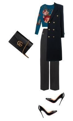 """Gucci flowers"" by clment-picot on Polyvore featuring Balenciaga, Gucci, Christian Louboutin and Yves Saint Laurent"