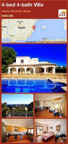 4-bed 4-bath Villa in Javea, Alicante, Spain ►€440,000 #PropertyForSaleInSpain