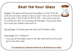 Here's a simple activity where students try to order a set of numbers before time runs out.