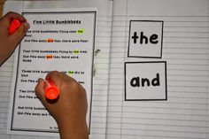 Use poetry journals and highlighters to explore specific letters, words, and punctuation in a poem.
