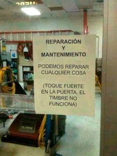 Podemos reparar cualquier cosa ...