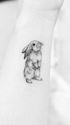 Little Rabbit Tattoo # Tätowierungen - diy tattoo images - Animals Bunny Tattoos, Rabbit Tattoos, Mini Tattoos, Finger Tattoos, Body Art Tattoos, New Tattoos, Sleeve Tattoos, Tatoos, Small Animal Tattoos