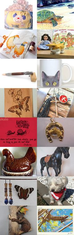 All God's Creatures Great and Small by M.A.Dellinger Wood Carving on Etsy--Pinned+with+TreasuryPin.com