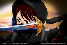 #illustration #manga #mangaillustration #drawing #ninja #ninjagirl #fighter #illustrator #photoshop #anime #art #sworx #martialarts #training #fighting #kungfu #martialartist #2ddrawing #vector #girl #femalefighter #karate #bjj #wingchun #taichi #stretching #excersice