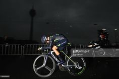 Alejandro Valverde of Spain Movistar Team competes during stage one of Le Tour de France 2017, a 14km individual time trial on July 1, 2017 in Duesseldorf, Germany.