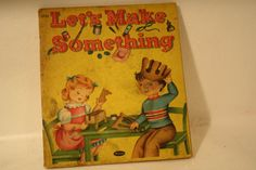 collectible childrens book Lets Make Something via Etsy