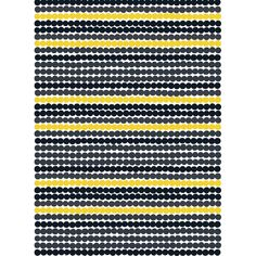 Marimekko's Räsymatto fabric is made of thick cotton and features Maija Louekari's lovely pattern in black, yellow and grey. Räsymatto, Finnish for rag rug, depicts the texture of traditional rag rugs in a delightful manner. Marimekko Wallpaper, Marimekko Fabric, Scandinavian Fabric, Scandinavian Style, Design Textile, Textiles, Co Working, Grafik Design, Black N Yellow